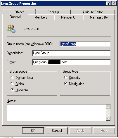 Create Skype4Business Groups