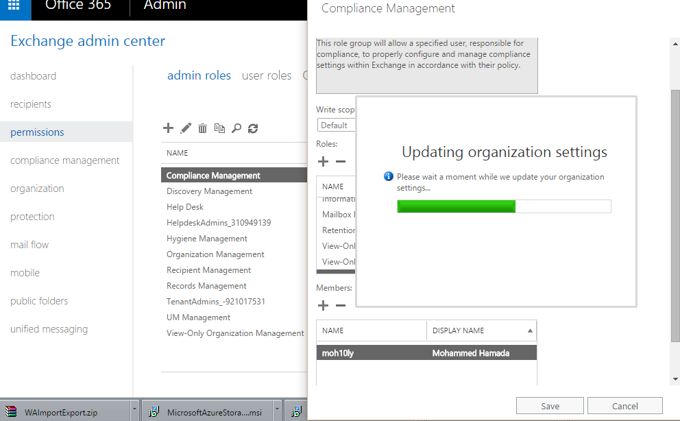 Export and import PST to Office 365 Exchange online mailboxes
